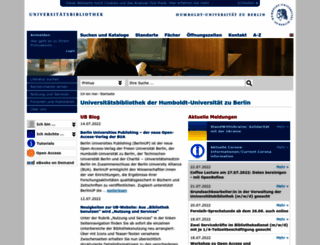 ub.hu-berlin.de screenshot