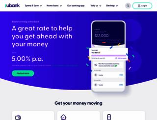 ubank.com.au screenshot
