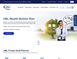 ublfunds.com.pk screenshot
