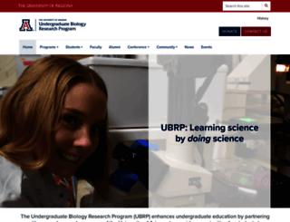 ubrp.arizona.edu screenshot
