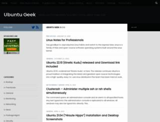 ubuntugeek.com screenshot