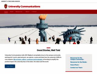 uc.wisc.edu screenshot