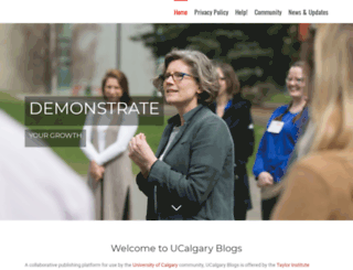 ucalgaryblogs.ca screenshot