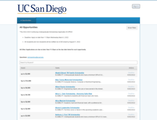 ucsd.academicworks.com screenshot