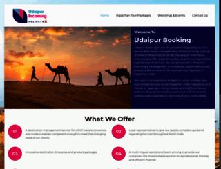 udaipurbooking.com screenshot