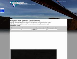 udaljenosti.com screenshot