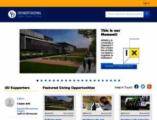 udel.networkforgood.com screenshot