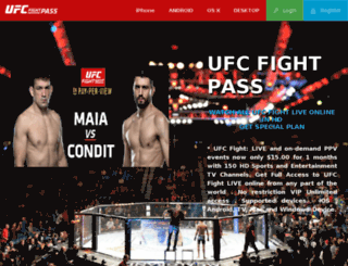 ufc.livetvpass.com screenshot