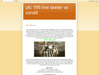 ufc195-live.blogspot.com screenshot