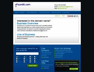 ufoundit.com screenshot