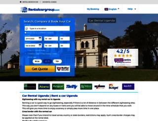 uganda.rentalcargroup.com screenshot