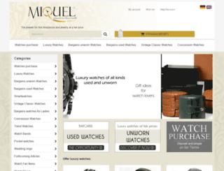 uhren-miquel.com screenshot