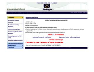 uilugportal.unilorin.edu.ng screenshot