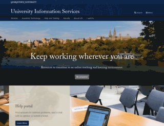 Uis Georgetown Edu Screenshot