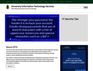 uits.knust.edu.gh screenshot