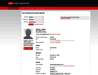 uk.fakenamegenerator.com screenshot