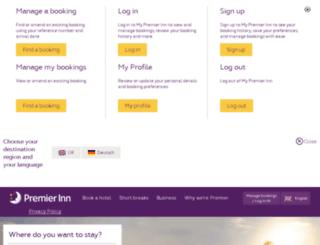 uk.premierinn.com screenshot