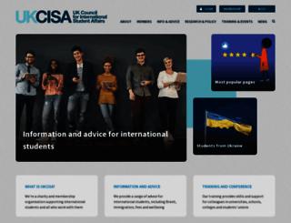 ukcisa.org.uk screenshot