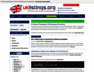 uklistings.org screenshot