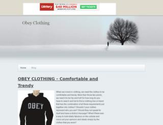 ukobeyclothing.tripod.com screenshot