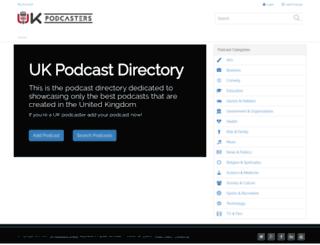 ukpodcasters.com screenshot