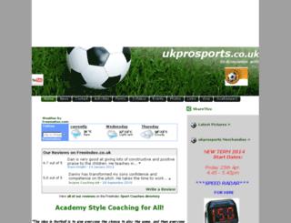 ukprosports.co.uk screenshot