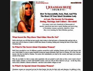 ukrainianbridesecrets.com screenshot