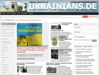 ukrainians.de screenshot