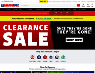 uksoccershop.com screenshot