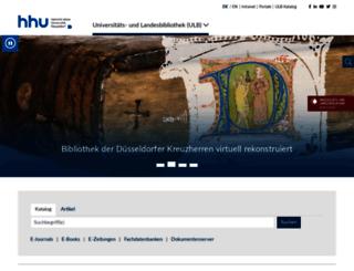 ulb.hhu.de screenshot