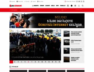 ulkegundemi.com screenshot