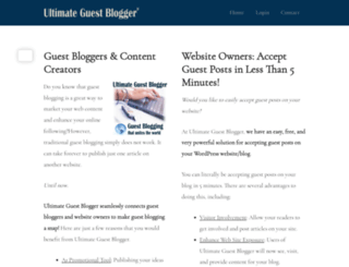 ultimateguestblogger.com screenshot
