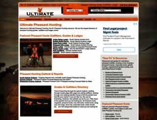 ultimatepheasanthunting.com screenshot