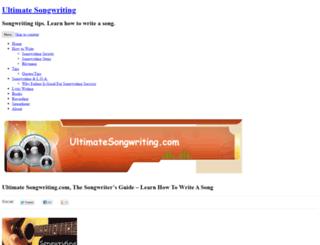 ultimatesongwriting.com screenshot