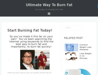 ultimatewaytoburnfat.com screenshot