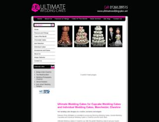 ultimateweddingcakes.net screenshot