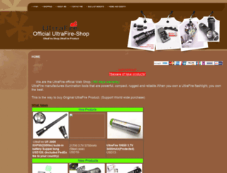 ultrafire-shop.net screenshot