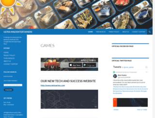 ultramadentertainers.wordpress.com screenshot