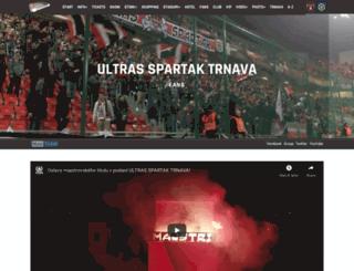 ultrasspartak.sk screenshot