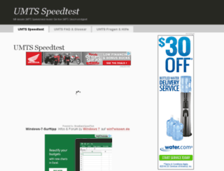 umts-speedtest.com screenshot