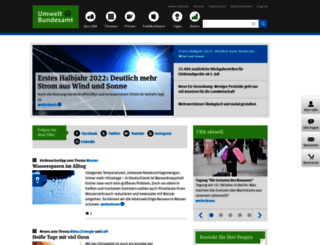 umweltbundesamt.de screenshot