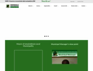 umzimkhululm.gov.za screenshot