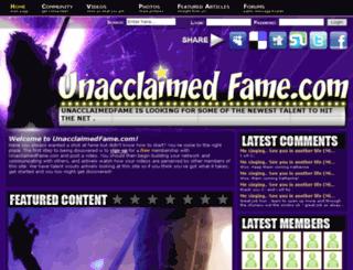 unacclaimedfame.com screenshot