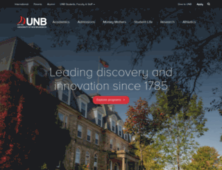 unb.ca screenshot