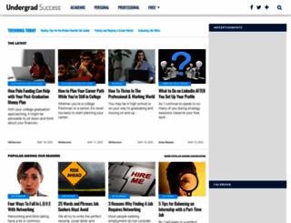 undergradsuccess.com screenshot