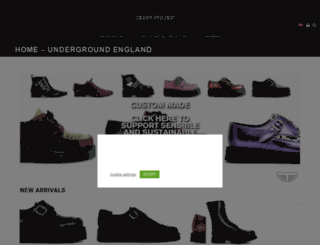 underground-shop.co.uk screenshot