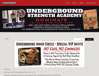 undergroundstrengthnation.com screenshot