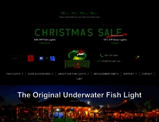 underwaterfishlight.com screenshot