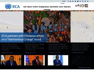 uneca.org screenshot
