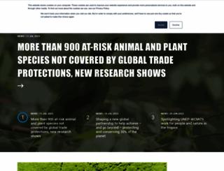 unep-wcmc.org screenshot
